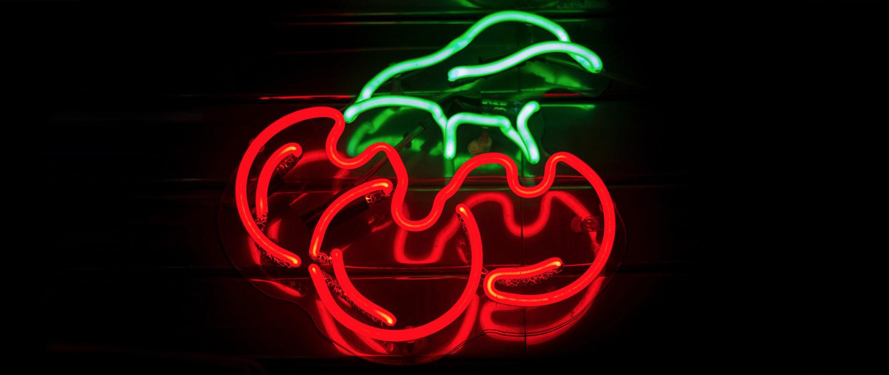Neon Cherries (2560×1080 Wallpaper) | 2560x1080 Wallpapers